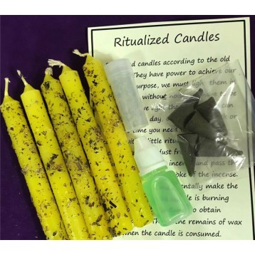 Abundance/Prosperity Magical Candle Kit.