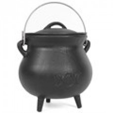 Triple Moon Large Cast Iron Cauldron.
