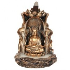 Bronze Buddha Backflow Incense Burner.