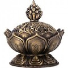 Metal Lotus Incense Cone Holder.