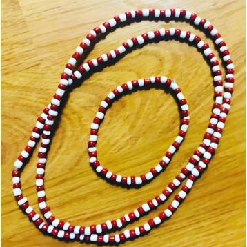 Shango Orisha Necklace Eleke Necklace/Ide Set