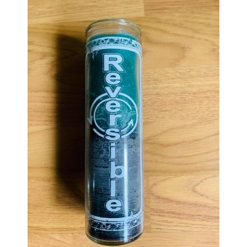 Half Green /Half Black Double Action Reversible Candle.